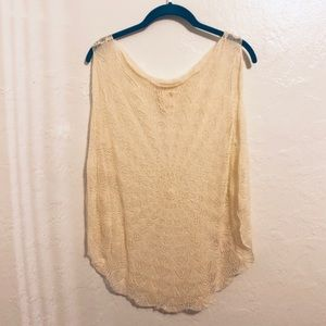 Anthropologie Far Away From Close Knit Cape Top